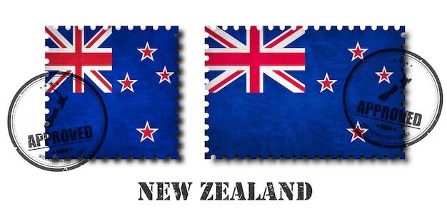 New zealand flag pattern postage stamp