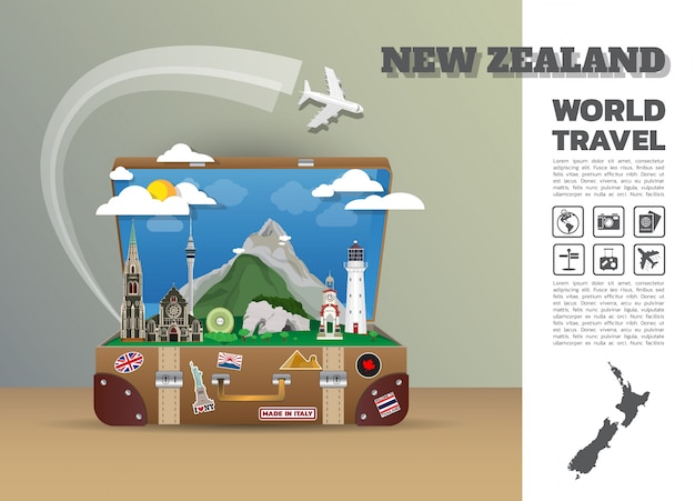 New zealand travel template