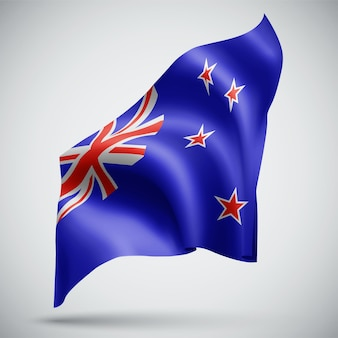 New zealand, vector 3d flag isolated on white background