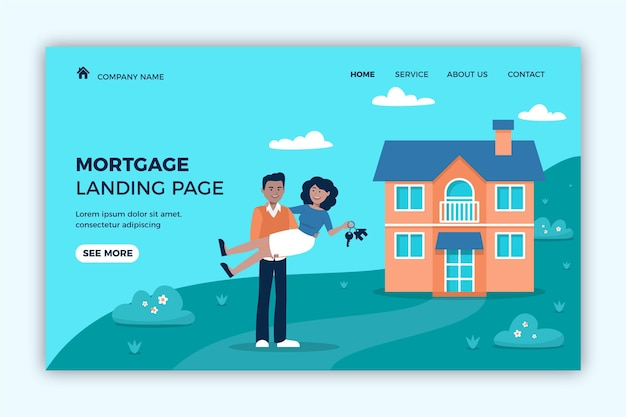 Newlyweds and new housemortgage landing page
