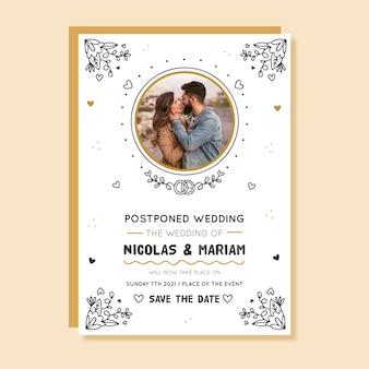 Gli sposi hanno rinviato il giorno del loro matrimonio