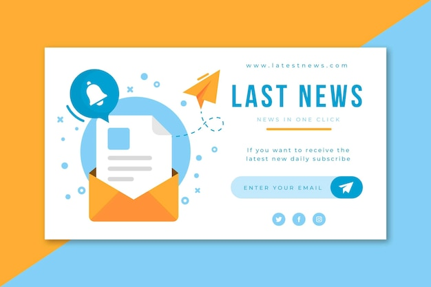 Blog di banner di notizie