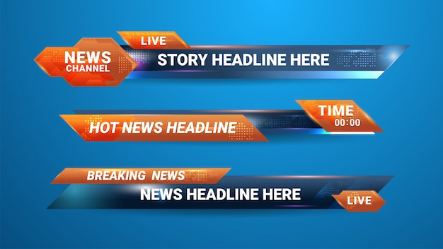 News banner for tv channel