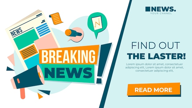 News blog banner template
