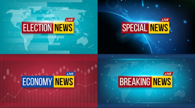 News broadcast tv daily banner