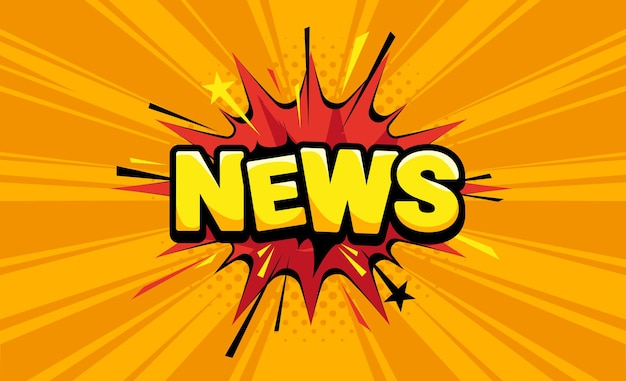 News in comic pop art style. vector colorful background.