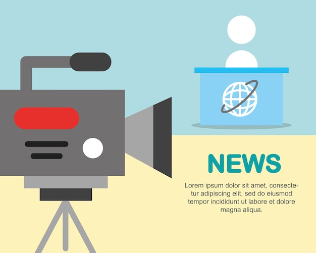 News communication camcorder