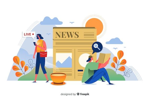 Концепция новостей для целевой страницы