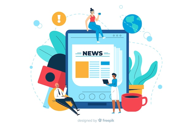 News concept landing page illustration