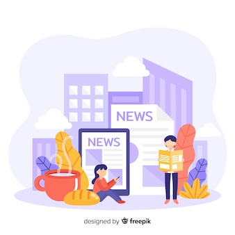News concept for landing page