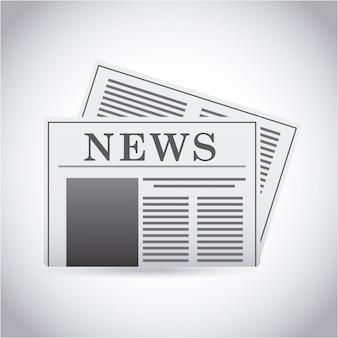 Дизайн новостей на сером фоне векторные иллюстрации Premium векторы