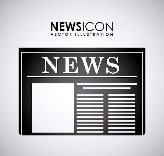 Дизайн новостей на сером фоне векторные иллюстрации