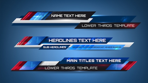 News graphic banners