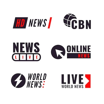 News logo collection concept