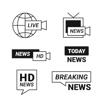 News logo template collection