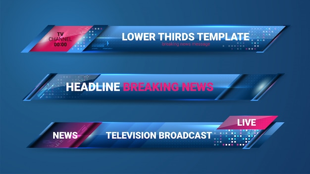 News lower thirds banner