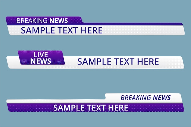News lower thirds pack vector