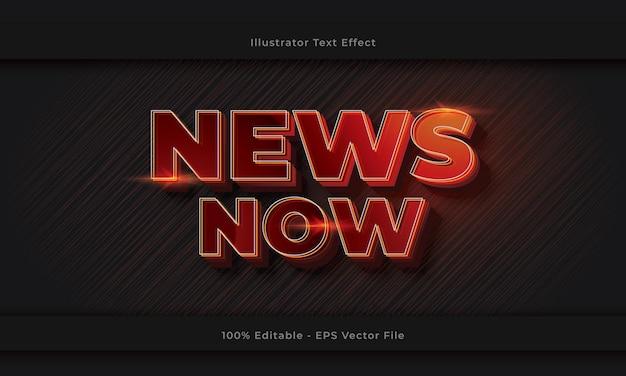 News now editable 3d text effect