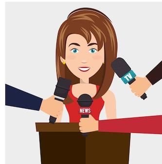 News presenter avatar character