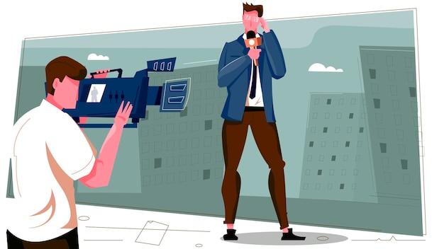 Иллюстрация репортера новостей