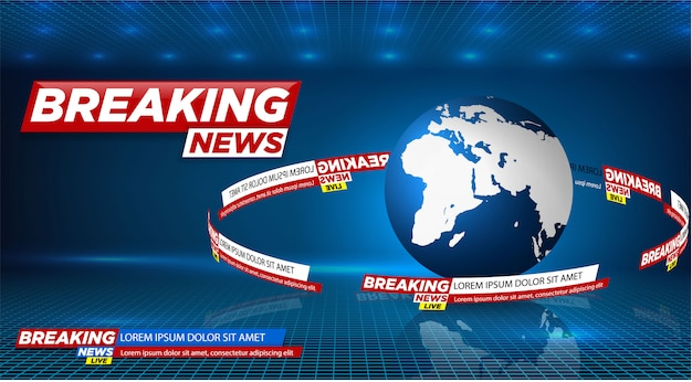 News vector background, breaking news.