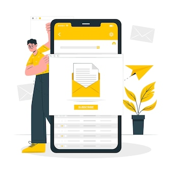 Newsletter concept illustration