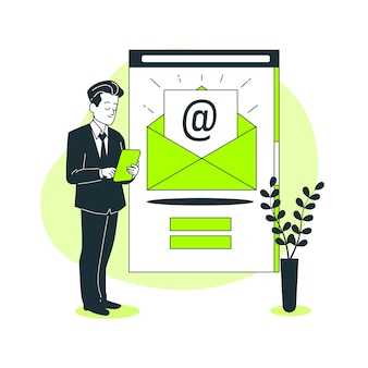 Newsletter concept illustration