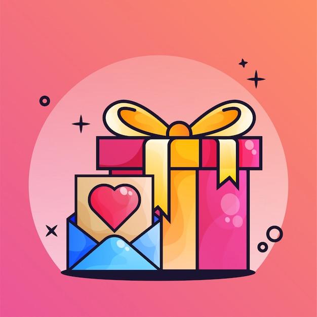 Newsletter gift box gradient