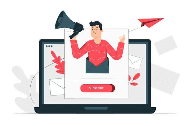 Newsletter illustration concept