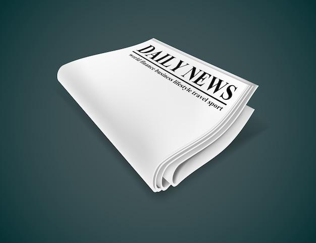 新聞。暗い背景に分離された図。