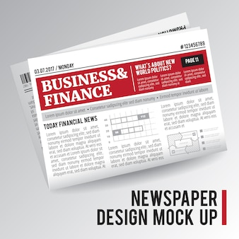 Newspaper mock up