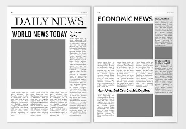 Шаблон страниц газеты