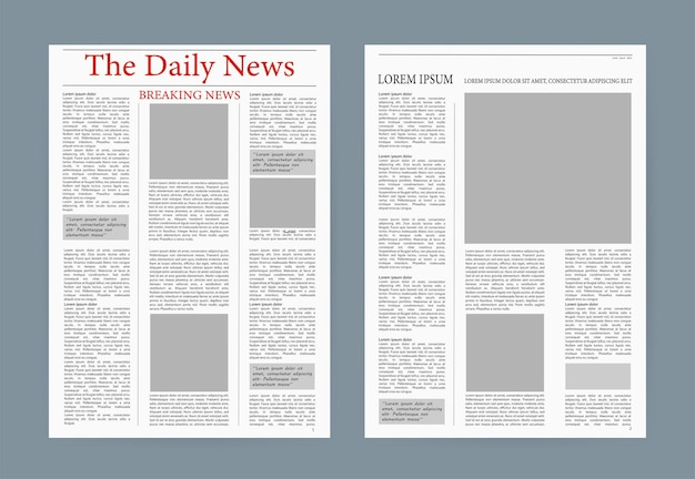 Newspaper template.