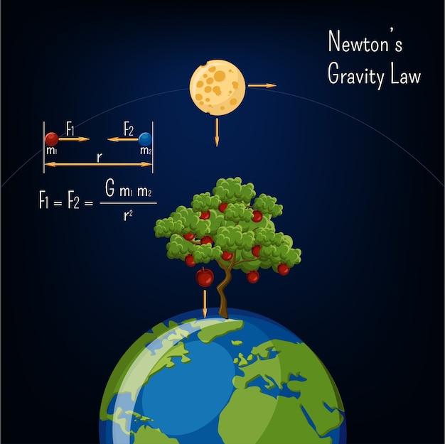Newton's gravity law