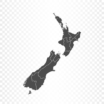 Newzealand map isolated rendering