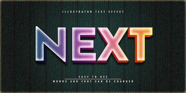 Следующий красочный дизайн шаблона редактируемого текстового эффекта в illustrator