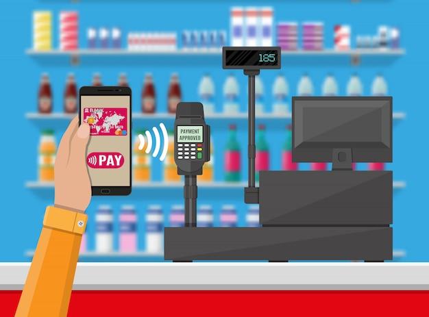 Nfc оплата в супермаркете