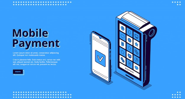Nfcテクノロジーのランディングページ、モバイル決済