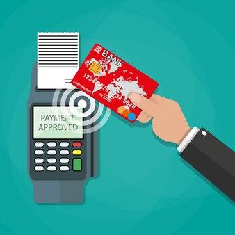 Концепция платежей nfc