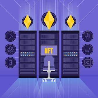 Nft concept design piatto