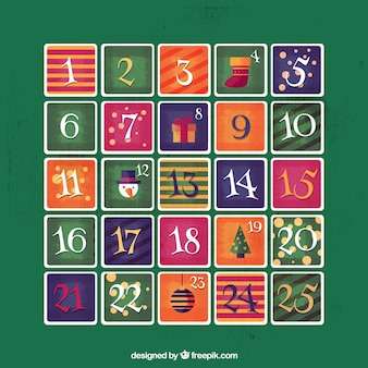 Nice advent retro calendar