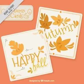 Nice осенние листья карты