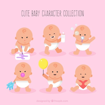Nice babies with objects pack