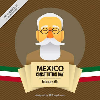 Nice background of the day of the mexico constitution