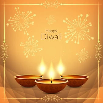 Nice background for diwali decorated with fireworks