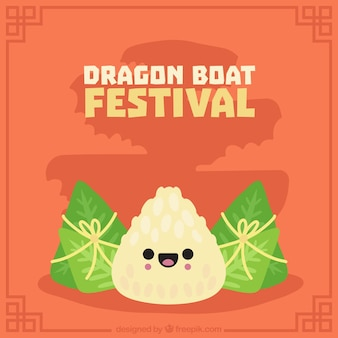 Nice background of  dragon boat festival traditional food