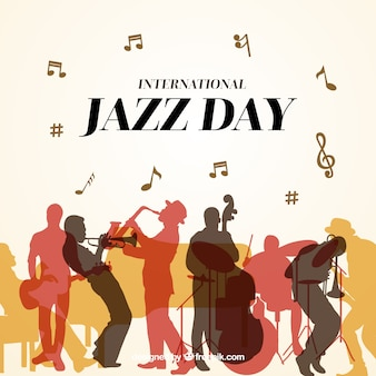 Nice background for the international jazz day