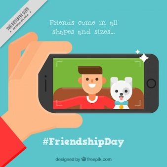 Nice background of friendship day with a picture