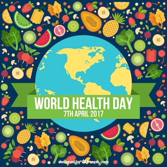 Nice background of health day full of healthy food
