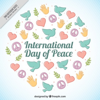Nice background for the international day of peace